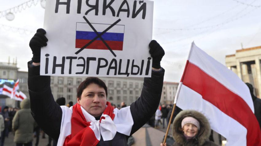 Protester i Minsk