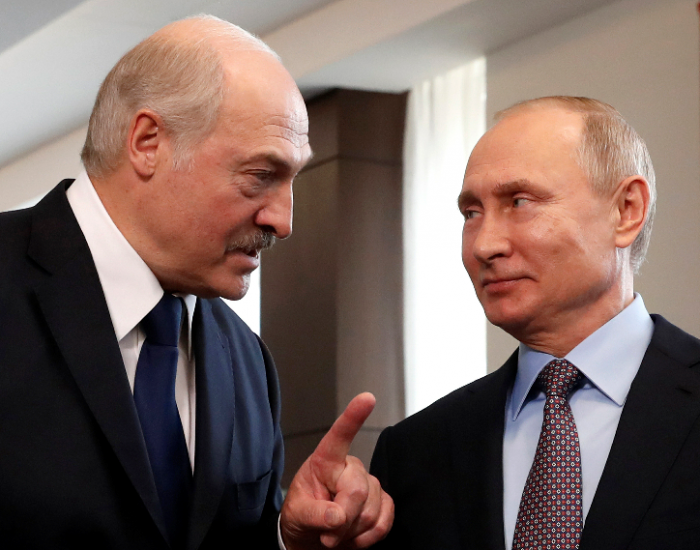 Putin og Lukasjenko