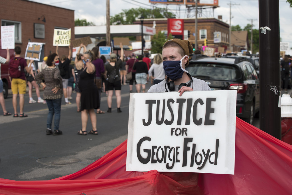 """Justice for George Floyd - Protest against police violence"" by Fibonacci Blue is licensed under CC BY 2.0"