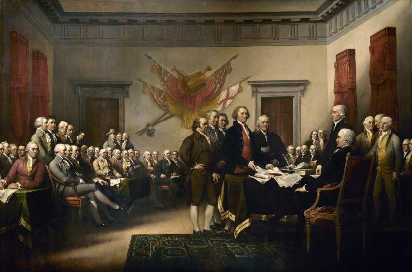 Av John Trumbull – US Capitol, Offentlig eiendom, https://commons.wikimedia.org/w/index.php?curid=180069